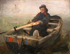 James Ensor (Belgian, 1860-1949), The Rower, 1883. Oil on canvas, 79 x 99 cm.