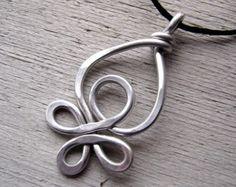 Big Celtic Heart Pendant Aluminum Celtic by nicholasandfelice
