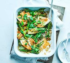 Pushed for time? This Asian-style one-pot fish curry is ideal midweek and with coconut milk, coriander, fish sauce and lime, it has zest and fragrance Bbc Good Food Recipes, Cooking Recipes, Healthy Recipes, Healthy Food, One Pot Meals, Main Meals, Salmon Tartare, Coconut Fish, Tray Bake Recipes