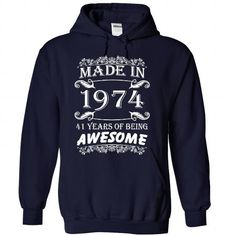 (NewAge002) Made in 1974 Years of Being Awesome #teeshirt #clothing
