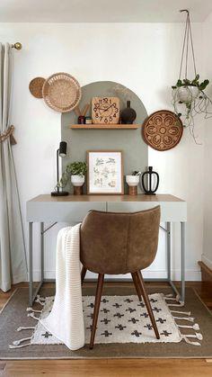 Home Office Decor, Home Decor Bedroom, Living Room Decor, Diy Home Decor, Office Nook, Home Decor Styles, Interior Design Minimalist, Interior Desing, My New Room