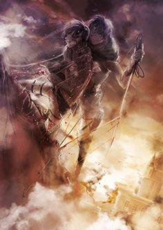 Shingeki no Kyojin, Rogue Titan, Titan (Shingeki no Kyojin), Eren Jaeger, Levi