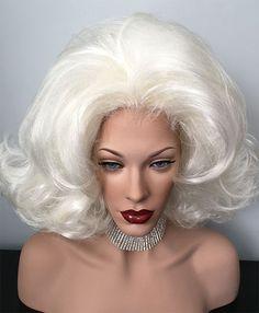 Drag, Queen, Wigs, Flip, Hair Spray, White Blonde