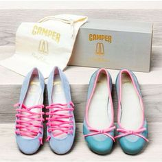 1f3c3446481c Camper has announced a collaboration with Pretty Ballerinas to release a  capsule collection of limited edition ballet pumps. The range comprises two  new ...