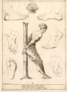 K. Alfabeto in Sogno (Alphabet in a Dream) [no JUW], Giuseppe Maria Mitelli, 1683