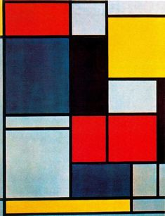 Cuadro II by Piet Mondrian Netherlands) Project Abstract, Abstract Art, Piet Mondrian Artwork, Quilt Inspiration, Claude Monet, Inspiration Artistique, Hard Edge Painting, Composition Art, Art Abstrait