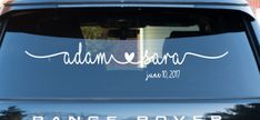 Wedding Getaway Car Decal Just Married Car decal by MomMadeTacos