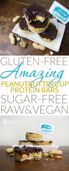 "Crazy Good Raw ""Peanut Butter Cup"" Protein Bars (That taste every inch the naughty treat! Best Gluten Free Recipes, Allergy Free Recipes, Low Carb Recipes, Raw Recipes, Protein Recipes, Raw Peanut Butter, Dessert Cookbooks, Healthy Treats, Healthy Deserts"