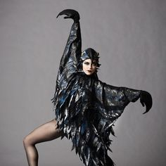 Four O'Clock: The Four Seasons. Winter Crow, dancer Marika Anderson. Photo by Erin Baiano. -Wmag