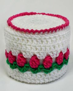 Maggie's Crochet · Free Rosebud Toilet Paper Topper Pattern. ☀CQ #crochet   http://pinterest.com/CoronaQueen/crochet-for-the-home-corona/