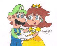 Luigi and Daisy by MarioSimpson1.deviantart.com on @deviantART