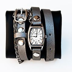 Chain Wrap Watch Pewter now featured on Fab. Sweet!