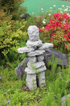 inukshuk in the garden by ~mr-giggle-bear on deviantART