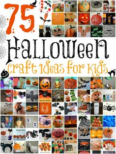 Tons of fun kids' craft ideas for Halloween!