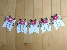 Paper Flower Garlands, Paper Flower Backdrop, Paper Flowers Diy, Bridal Shower Decorations, Paper Decorations, Birthday Decorations, Bride To Be Banner, Its A Girl Banner, Floral Banners