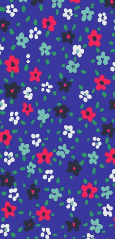 Oliver Bonas 'Mini Floral' print, designed in house for fashion collection. Cute Backgrounds, Wallpaper Backgrounds, Floral Patterns, Floral Prints, Cotton Lawn Fabric, Red Daisy, Oliver Bonas, Elements Of Design, Ditsy