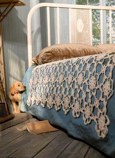 Crochet Coverlet - Blue Sky Fibers