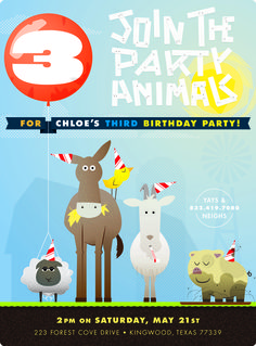 FUN TO LOOK AT: Chloe's 3rd Birthday Invitation