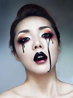 Pony (korean makeup artist) - very fancy for Halloween Pony Makeup, Makeup Art, Eye Makeup, Makeup Ideas, Makeup Style, Makeup Tutorials, Beauty Makeup, Hair Beauty, Make Up Looks