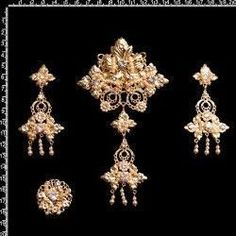 Aderezo de valenciana, 8004, cristal, oro.