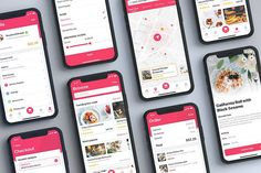Ad: Foody - Food App UI Kit by hoangpts on Foody UI Kit is a full featured mobile UI Kit for getting started with restaurant, food and recipe applications brought to you. The UI Kit App Ui Design, Mobile App Design, Food Design, Web Design, Graphic Design, Recipe Application, Desgin, Delivery App, Diet Apps