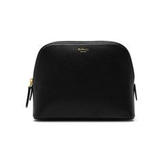 Shop the Cosmetic Pouch in Black Small Classic Grain Leather at Mulberry.com. Keep all beauty essentials close to hand with this classic leather cosmetics pouch. The zip closure will keep your essentials safe, and the pouch is beautifully nappa lined inside.