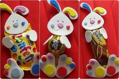 30 Ideas for Easter Holidays - Step by Step Craft! Easter Arts And Crafts, Spring Crafts, Diy And Crafts, Crafts For Kids, Easter Party, Easter Gift, Happy Easter, Easter Bunny, Chocolates