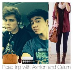 """Road Trip With Ashton And Calum"" by hazzgirl03 ❤ liked on Polyvore"