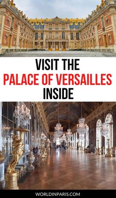 Learn here how to visit the Palace of Versailles interior during your trip to Paris. Check out the best of Château de Versailles inside with our best tips to avoid the lines in Versailles and the biggest crowds #versailles #france Paris France Travel, Paris Travel Guide, Europe Travel Tips, Spain Travel, Travel Guides, European Travel, Budget Travel, Italy Travel, Paris Things To Do