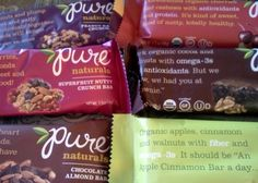 Gluten Free Pure Bars - perfect for healthy living #SproutWatches #SproutSchoolSupplies