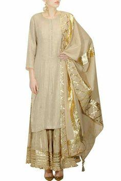 Extra Off Coupon So Cheap Indian New Designer Look Jam Cotton Gotta Work Stitiched Sharara Suit Pakistani Dresses, Indian Dresses, Indian Outfits, Indian Attire, Indian Wear, Kurta Designs, Blouse Designs, Salwar Kameez, Sharara Suit