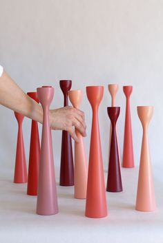 FREEMOVER.se - Red to Pink Rolf™ Candlesticks, design by Maria Lovisa Dahlberg @freemoverdesign