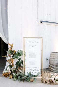 Welcome signage at Halter Ranch barn wedding barn wedding Halter Ranch wedding photos Wedding Reception Signs, Wedding Dinner, Wedding Signage, Wedding Guest Book, Wedding Table, Wedding Day, Dream Wedding, Party Wedding, Wedding Beach