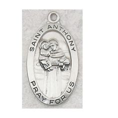 "#blackfriday @blackfriday @cybermonday #cybermonday #jewelrysale Sterling Silver St. Anthony Medal with 18"" Rhodium Chain in Gift Box, Patron Saint of Lost Articles & the Poor. MV001 http://www.amazon.com/dp/B003HLW2LE/ref=cm_sw_r_pi_dp_7iuzub1Z7X5TY"