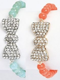 Rhinestone Bow Bracelet - $7.99 : FashionCupcake, Designer Clothing, Accessories, and Gifts
