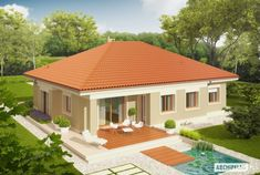 Picture of Eco-friendly Contemporary House Plan Village House Design, Kerala House Design, Bungalow House Design, Bungalow House Plans, House Plans Mansion, My House Plans, Architect Design House, Architectural Design House Plans, Modern House Floor Plans