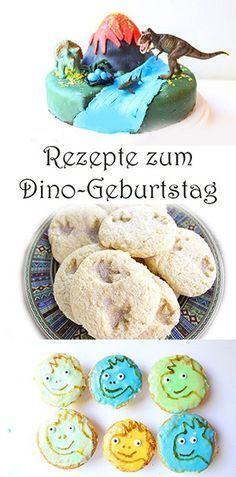 Dino Geburtstag. Rezepte. Dinosaurier Kuchen, Kekse, Muffins