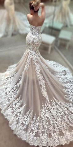 4 Thriving Tips: Wedding Gowns Aline Long Sleeve ombre wedding dresses blush.Wedding Gowns Off Shoulder Satin wedding dresses corset bridal lingerie. Dream Wedding Dresses, Wedding Dress Styles, Bridal Dresses, Wedding Gowns, Backless Wedding, Modest Wedding, Lace Weddings, Winter Weddings, Country Weddings