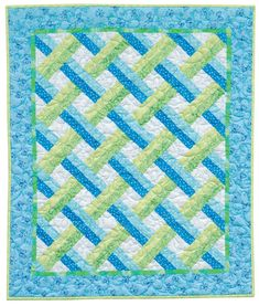 Choose two shades of one color and two shades of another, add a background fabric, and you're on your way to stitching Mary Hickey's Petite Trellis quilt. This repeat-block quilt is super-simple to piece, and it's perfect for pinks, blues, and more gender-neutral colors.
