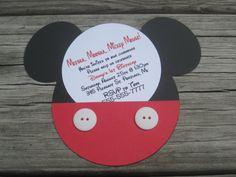 Mickey Mouse Invitations  Set of 10 by jilliansawyer on Etsy, $15.00