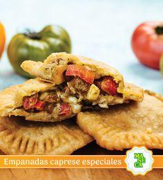 Prepará estas riquísimas empanadas capresse especiales y disfrutalas en familia.  #Receta #TodoConMaseca #Empanada #Maseca
