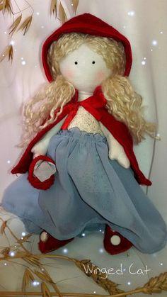 "Кукла Большеножка ""Красная шапочка"". Ручная работа"