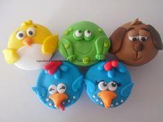 Cupcakes e Doces da Liana: cupcake galinha pintadinha