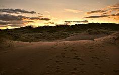 Newburgh, Scotland, beach, sunset, landscape, nature, sand, brown, yellow, orange by PicClick on Etsy