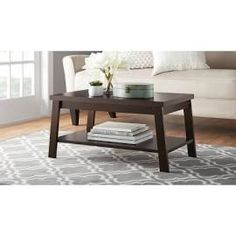 Mainstays Logan Coffee Table, Multiple Finishes, Brown
