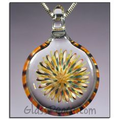 Glass Pendant Dot Implosion Lampwork Necklace Focal by Glass Peace $27.00