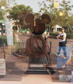. 컴플레인 때문에 매표소 왔는데 내가 미키가 되었다 . 대두네 . #애너하임 #여행 #디즈니랜드 #미키마우스 #빙의 #대두 #하하하 #lol #피곤 #인친 #소통 #Disneyland #Travel by jinvely.92