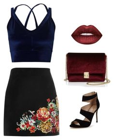"""Night Club Party"" by christie-devina on Polyvore featuring Miss Selfridge, River Island, Carvela, Lime Crime and KC Jagger"