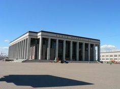 Minsk, Belarus: The Palace of the republic. Due to the economic crisis of the 1990s, this building wasn't finish