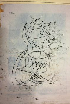 172 Bildnis-Skizze Frau Hck 1 Paul Klee, Unknown on ArtStack Klimt, Statues, Paul Klee Art, Matisse, Wassily Kandinsky, Cubism, New Artists, Color Theory, Line Drawing